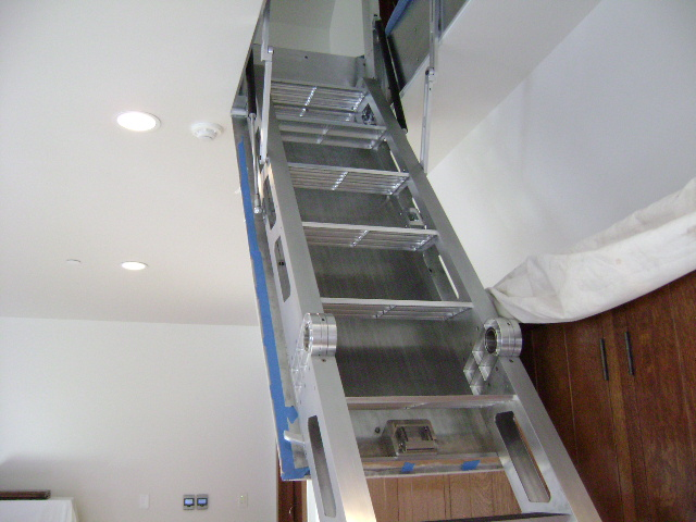 Folding attic stairs drew gillingwators flickr - Folding stairs to loft plans ...