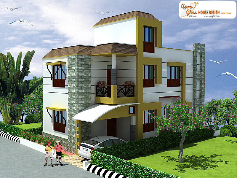 Apnaghar House Design: Duplex House Design - 135m2 Creative