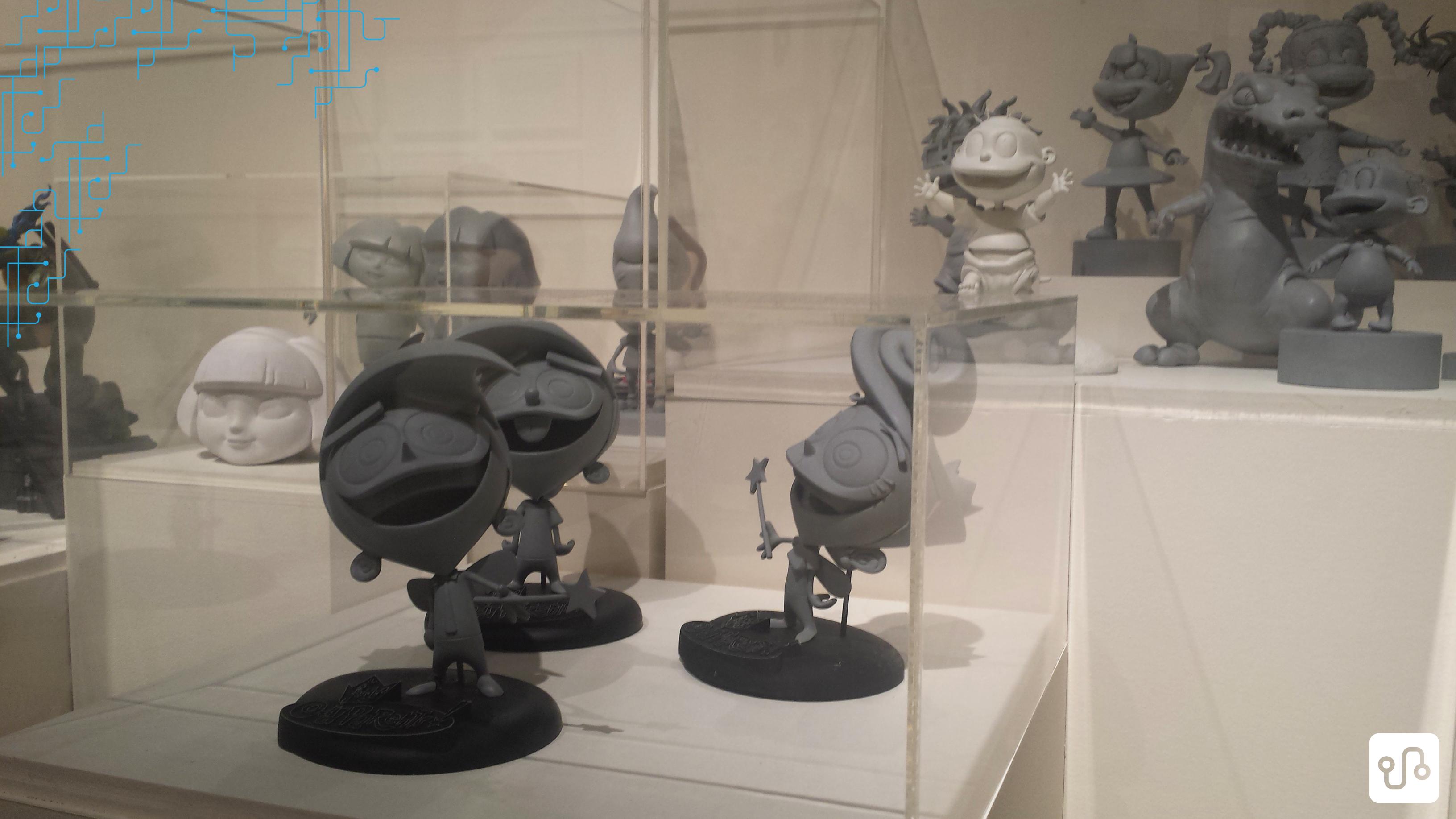 Exposição da Nickelodeon, hospedada pela galeria de arte do complexo de Visual Arts na CSUF