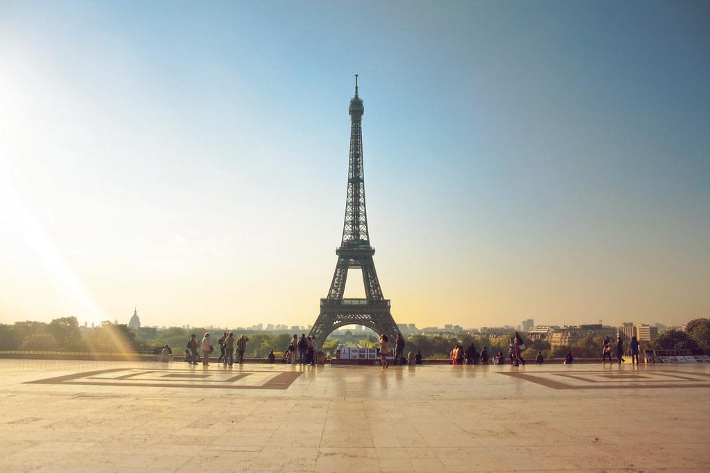 amanecer en la torre eiffel desde el trocadero parís fran flickr