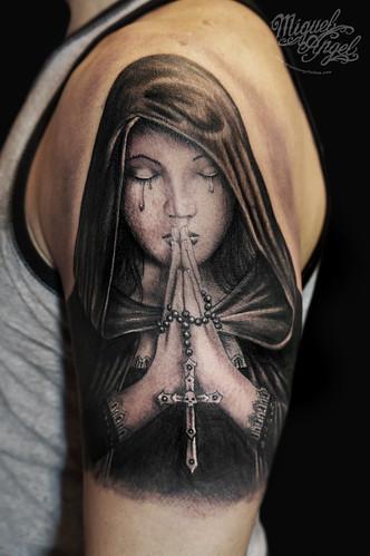 Gothic Prayer, Anne Stokes® design tattoo   Miguel Angel