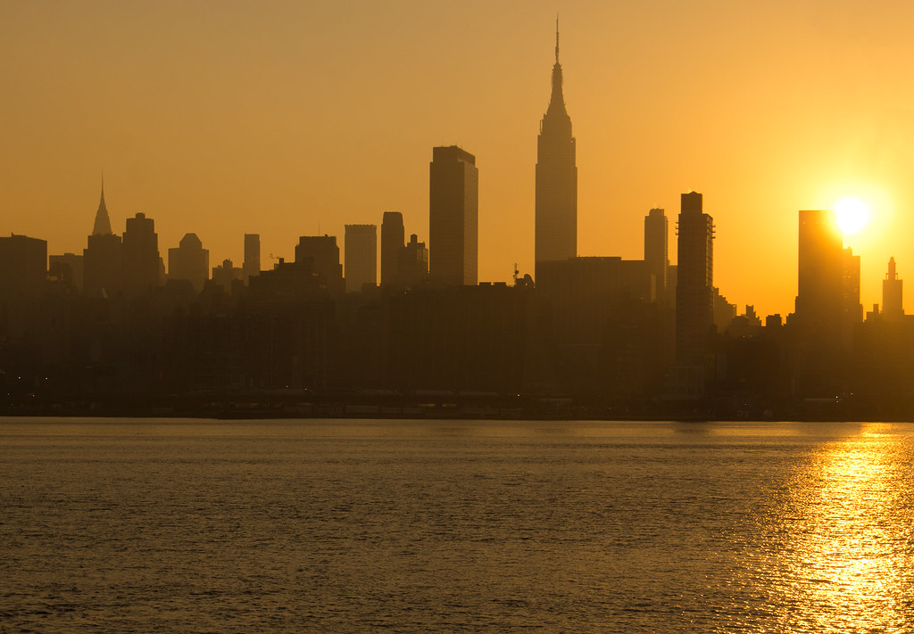 Nyc Sunrise Over Nyc Taken From Across The River Flickr