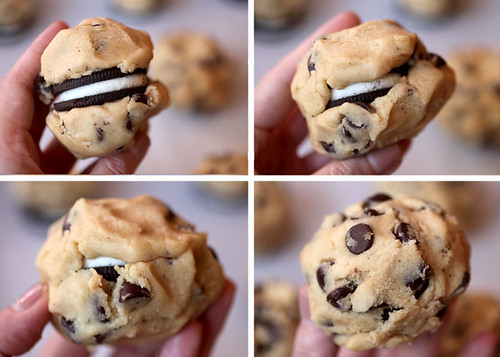 Oreo-Stuffed Chocolate Chip Cookies | by Bakerella