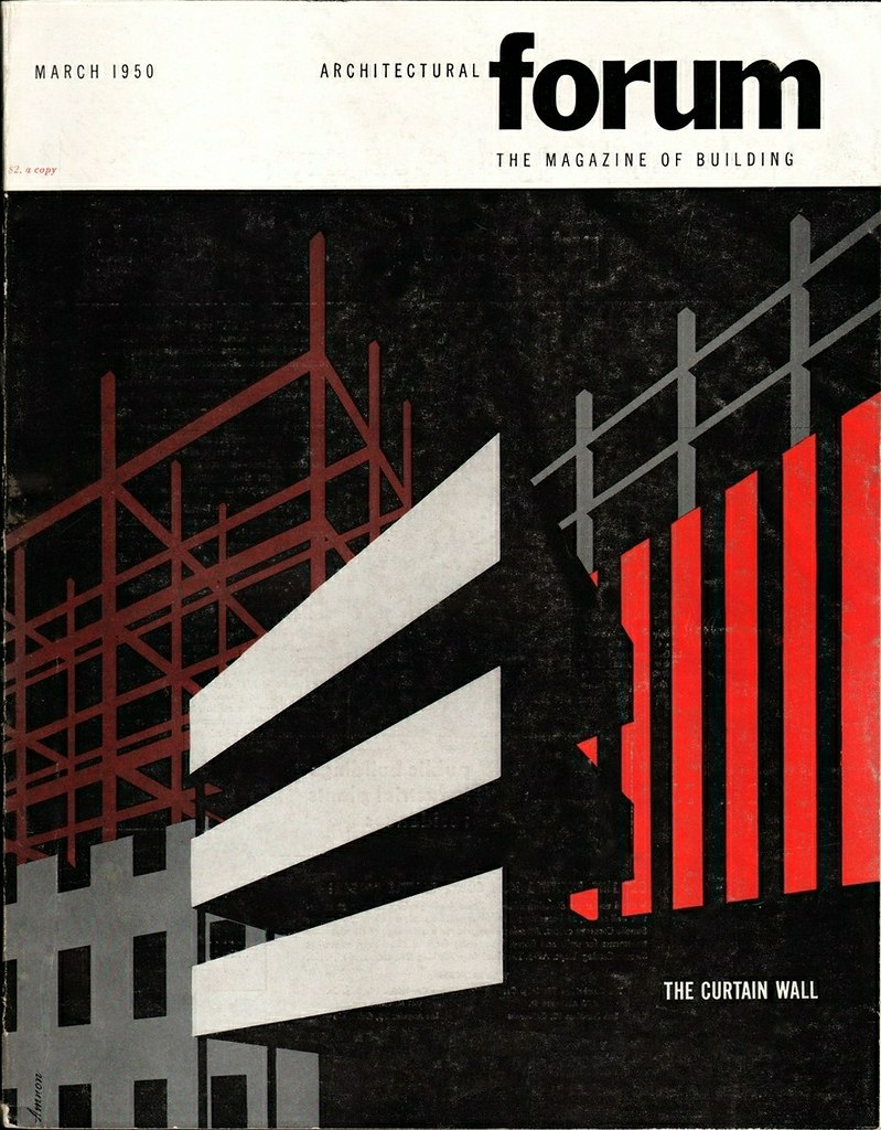 Architectural forum march 1950 march 1950 cover design for Free architecture magazines