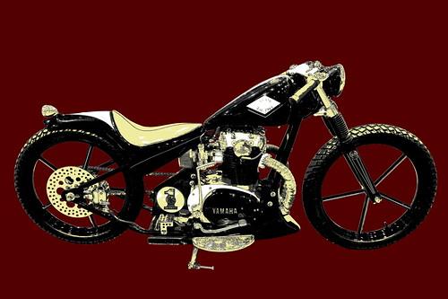 Cafe Racer Yamaha Mono Compteur