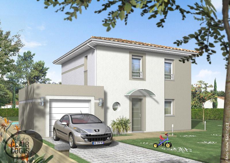 Maison contemporaine Sagittaire (façade avant) | Maison cont ...