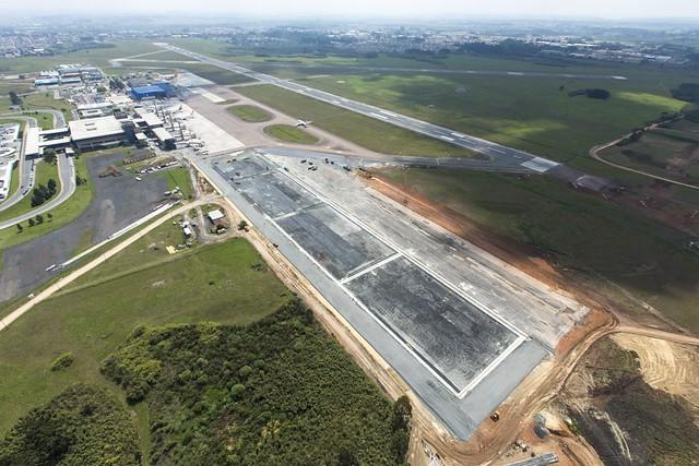 Aeroporto Afonso Pena : Aeroporto afonso pena pr obras de ampliação do pátio