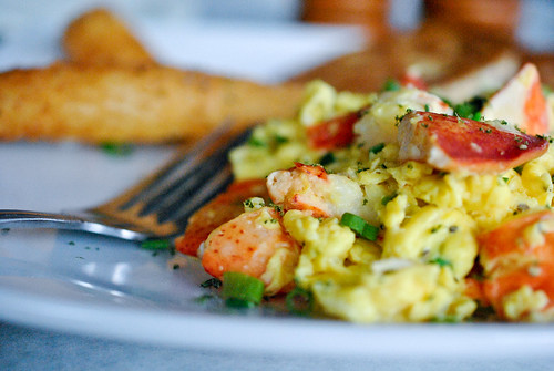 Lobster Scrambled Eggs | Fluffy scrambled eggs cooked with l ...