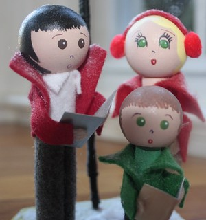 Christmas Carolers. Clothespin Dolls. Peg Dolls. Christmas Decorations. | by Min and Moots