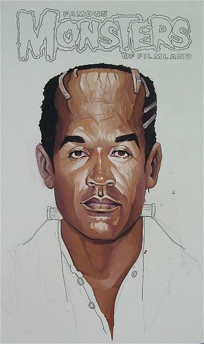 Work in progress from Dave MacDowell for 'Project Mayhem' - opening January 2013 at Thinkspace | by thinkspace_gallery