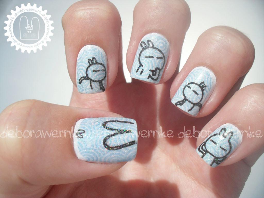 Nail art tuzki rabbit morry com essa plaquinha sim ou co flickr nail art tuzki rabbit by dborawernke prinsesfo Image collections