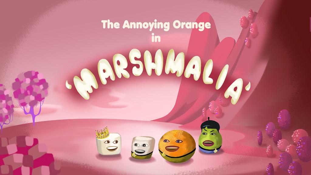 MARSHMALIA Title Card Photoshop Painting Annoying Orange