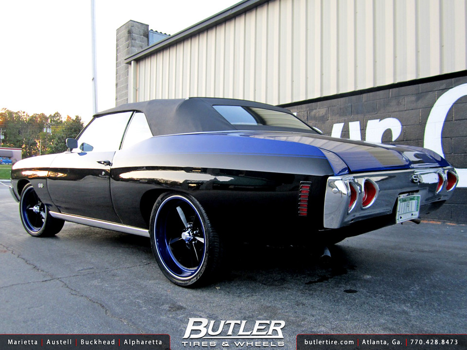 72 Chevy Chevelle With 20in Us Mags U106 Wheels