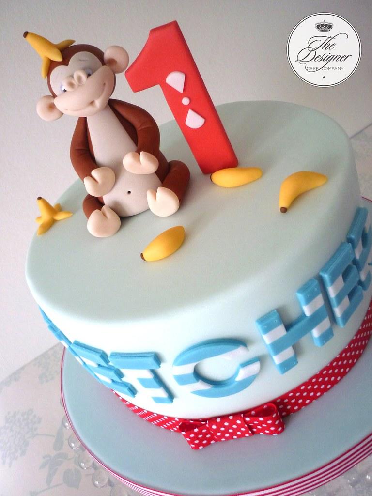 Cheeky Monkey birthday cake 1st birthday cake based on a d Flickr