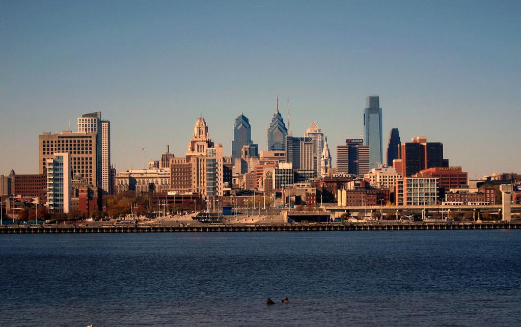 Philadelphia Skyline As Seen From Adventure Aquarium New J
