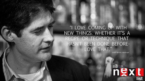 """I LOVE COMING UP WITH NEW THINGS. WHETHER IT'S A RECIPE OR TECHNIQUE THAT HASN'T BEEN DONE BEFORE - LOVE THAT."" 
