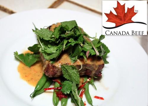 Chef Adam Hynam-Smith's Beef with Thai Coconut Red Curry Haricots Verts and Herb Salad | by LexnGer