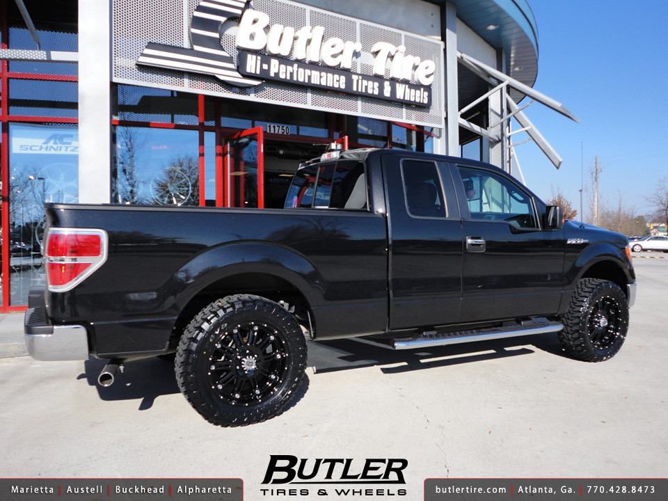 Ford F150 With 20in Xd Hoss Wheels And Leveling Kit Flickr