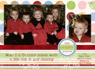 Clor 5 100% Naughty Guaranteed 5x7 Medium Web view | by amyscustomgreetings.com