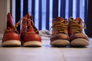 NEW AND OLD: Two pairs of Red Wing | by Teddy Kwok