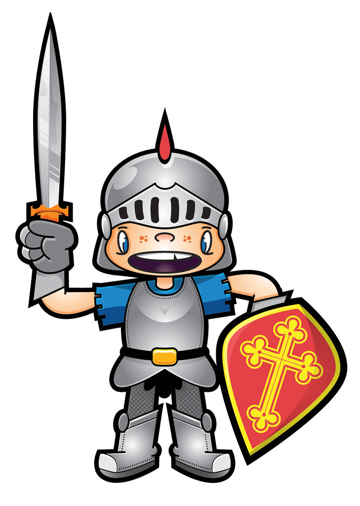 KID KNIGHT | Knight Mascot for a kid's website. Never used ...