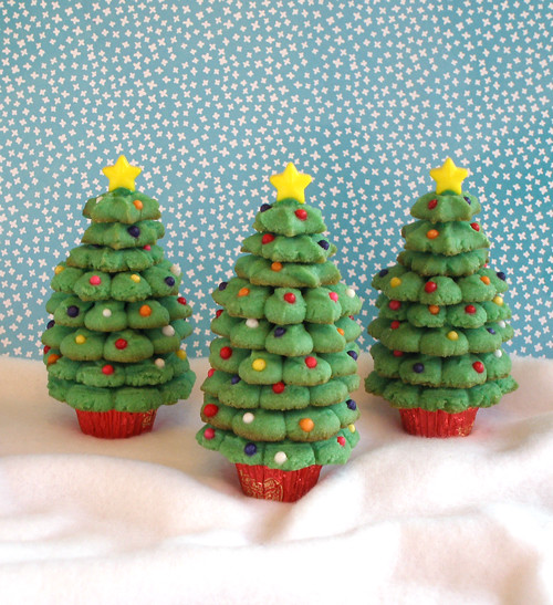 Spritz Cookie Christmas Trees | Sweet little Christmas ...