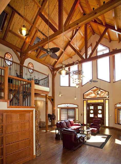 Custom timber frame home from texas timber frames flickr for Custom a frame homes