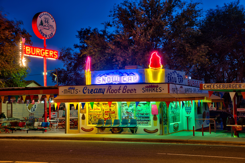 Delgadillo's Snow Cap Drive-In - 301 Arizona 66, Seligman, Arizona U.S.A. - October 20, 2012