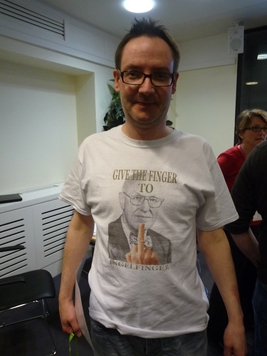 """Give the Finger to Ingelfinger"" --Graham Steel aka @McDawg at Spot On London, #solo12 