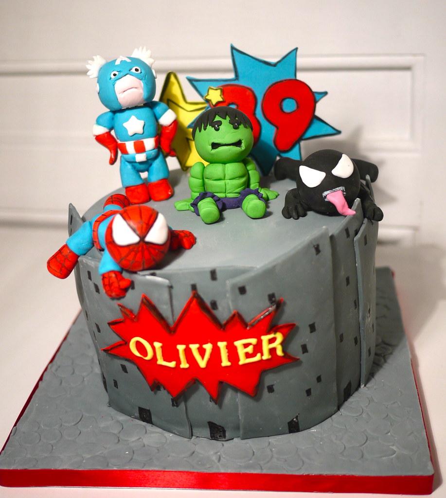 Marvel Comic Wedding Cake