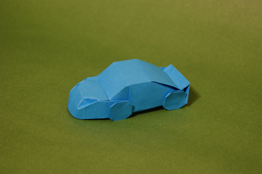 Origami Car Designed And Folded By Mindaugas Cesnavicius