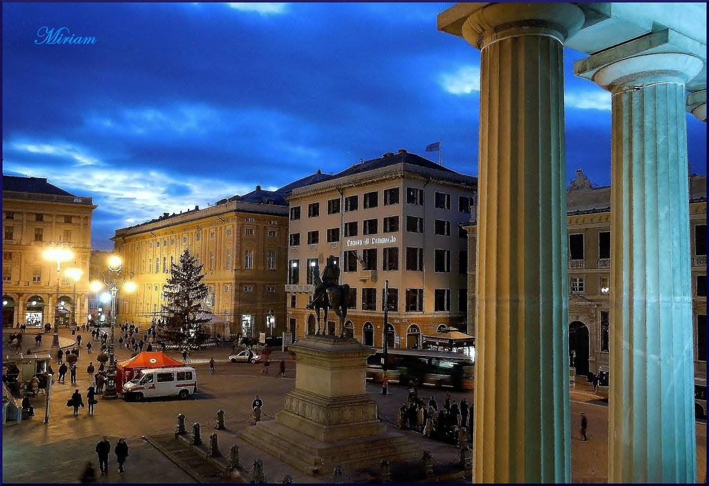 Genova : Dalla terrazza del Teatro Carlo Felice : Piazza D… | Flickr