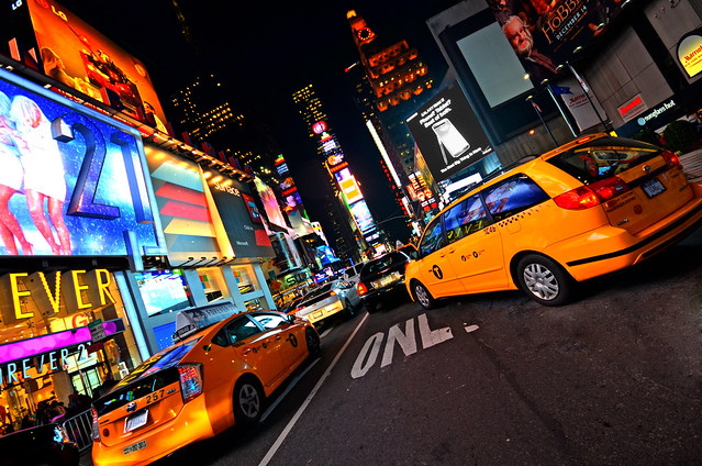 Times Square y los taxis de Manhattan