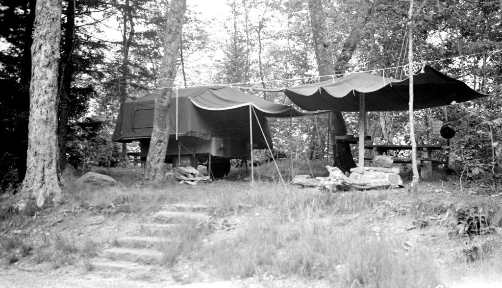 Balsam Mountain Campground, Great Smoky Mountains National Park, July 21, 1954, R. A. Wilhelm (photgrapher)