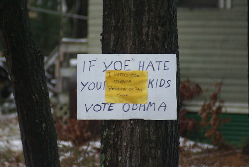 I VOTED FOR OBAMA BECAUSE OF THIS SIGN | by marcn