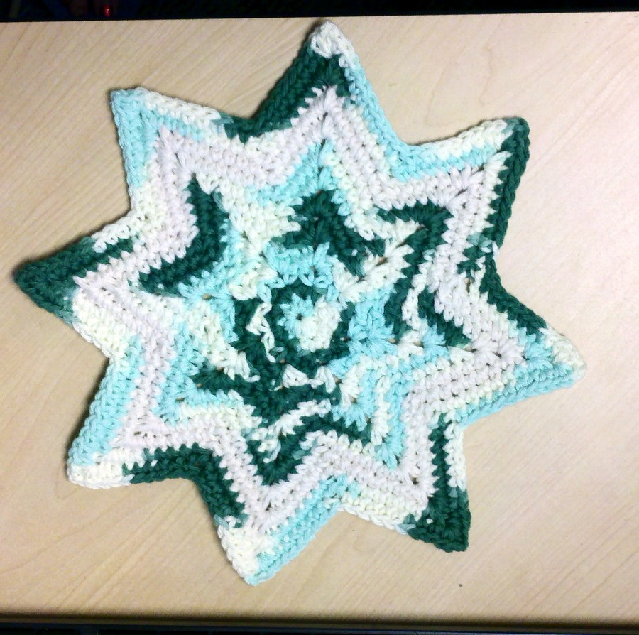 8 Point Dishcloth Used This Free Pattern Crochetville Flickr