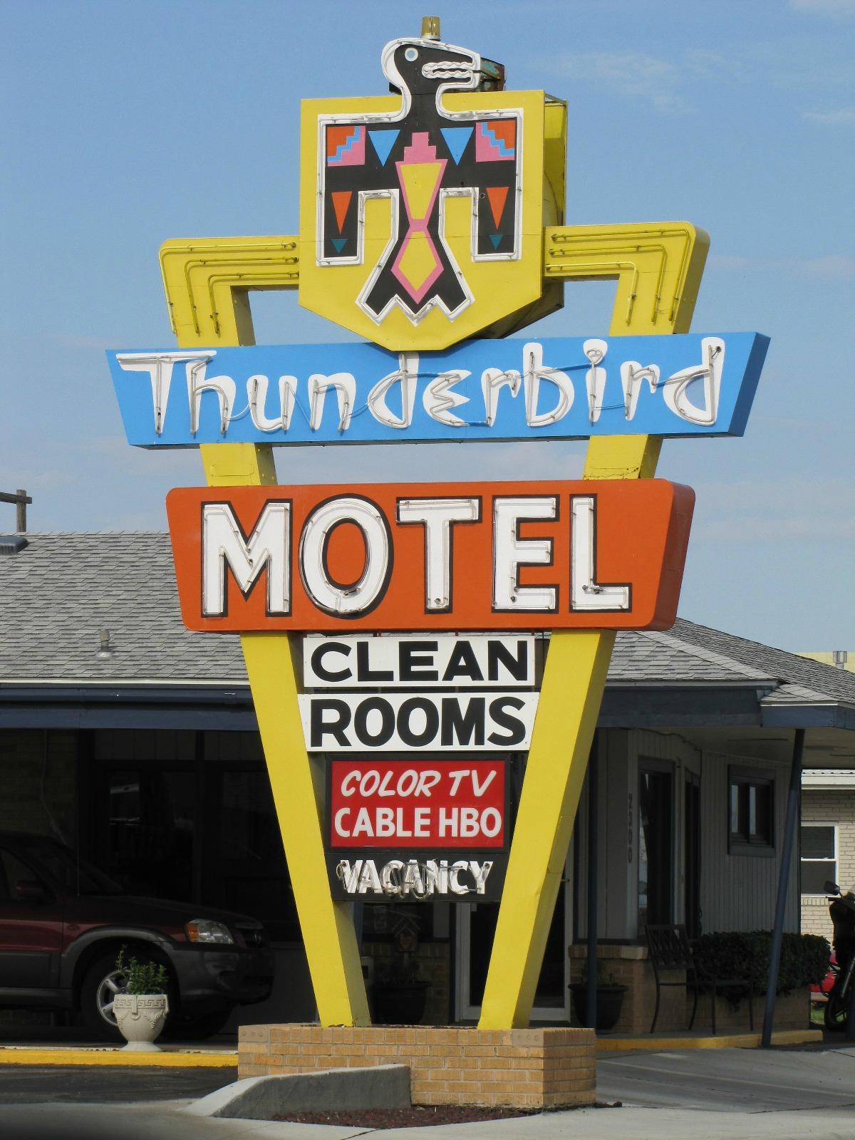 Thunderbird Motel - 2300 West Wyatt Earp Boulevard, Dodge City, Kansas U.S.A. - May 12, 2012