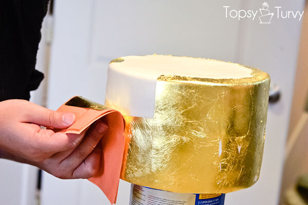 Gold Leaves Cake Decoration : edible-gold-leaf-tutorial-cake-second-layer imtopsyturvy ...
