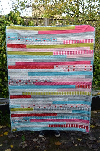Jelly Roll Race Quilt | by Scissors & Thread