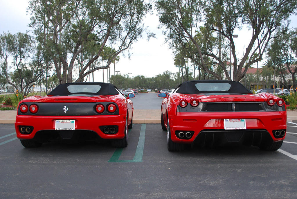 Ferrari 360 Spider vs F430 Spider | Ferrari 360 Spider vs F4 ...