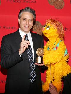 Jon Stewart and Kami (the HIV positive muppet) | by Peabody Awards