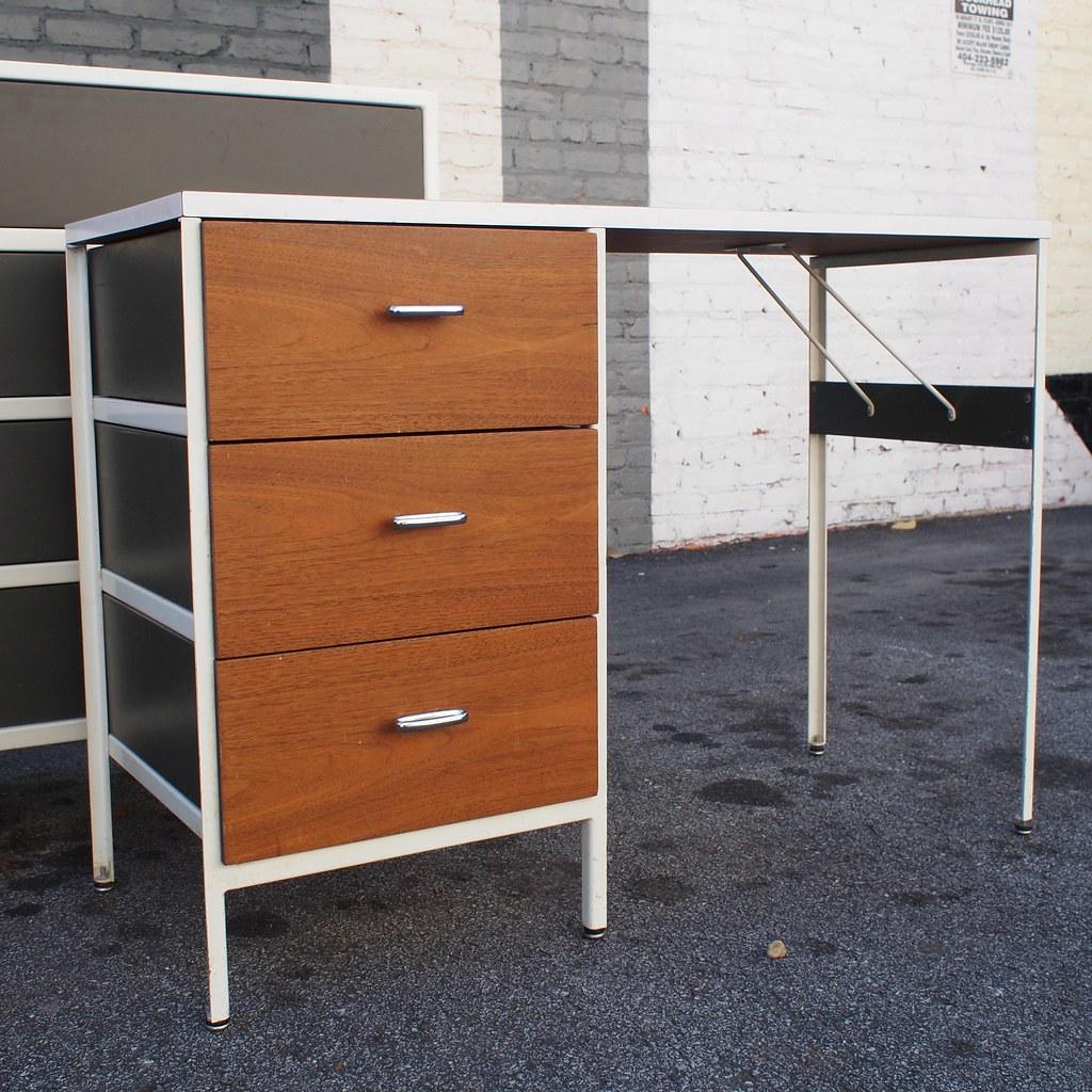 George Nelson Steel Frame Desk For Herman Miller Late 50