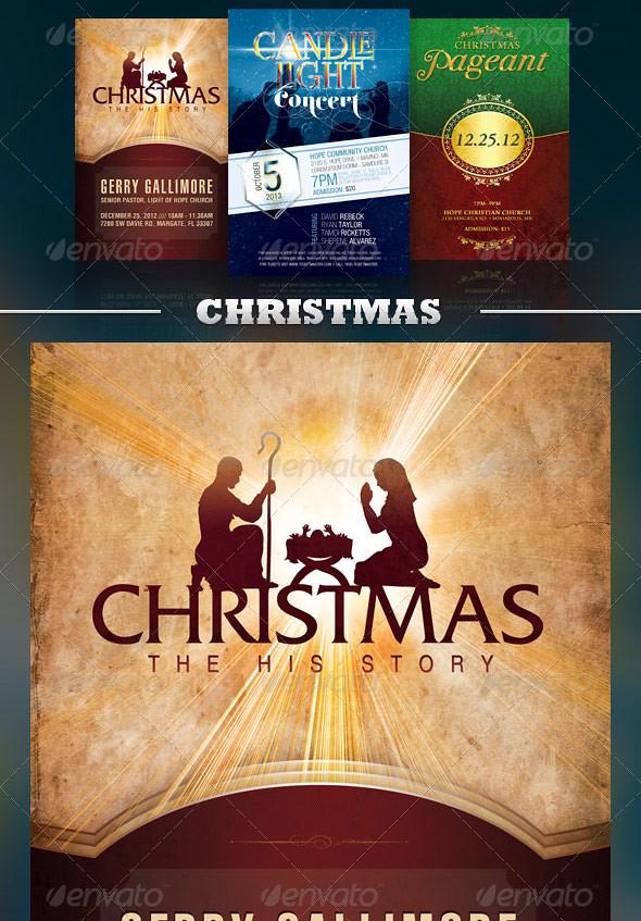 Church Flyer Template Bundle Vol 3 - Christmas | The ...
