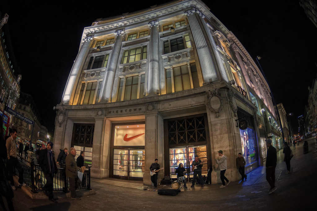... Nike Town in Oxford Circus. London (Fisheye Vision) | by Abariltur