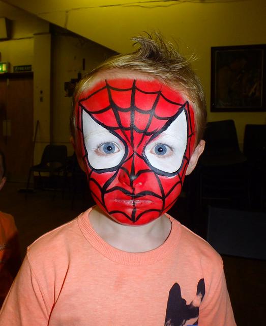 spiderman face painting flickr photo sharing. Black Bedroom Furniture Sets. Home Design Ideas
