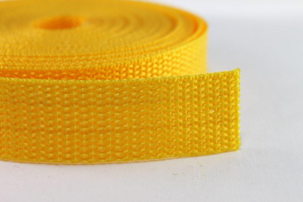 Gurtband 20mm gelb