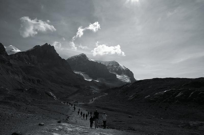 Athabasca Glacier Crowds
