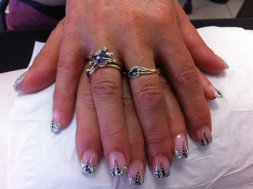Nail Art Argent Nail Art French Manucure