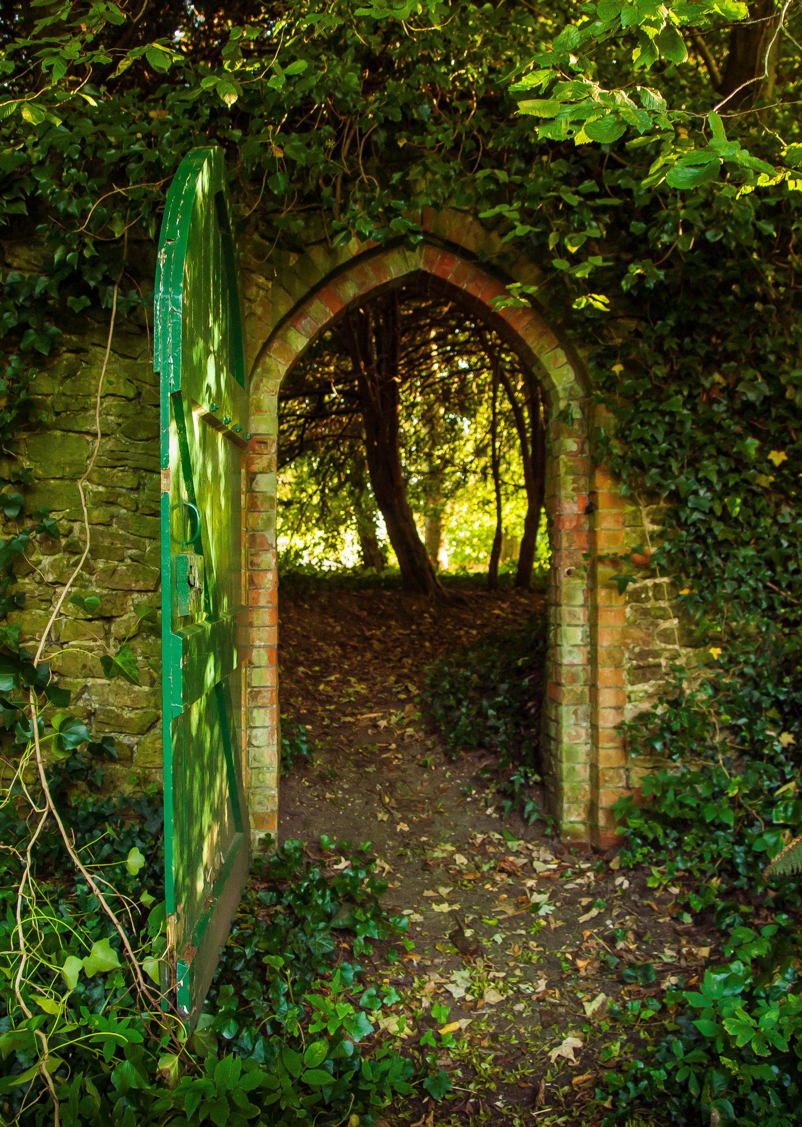 All sizes | A gateway in the churchyard wall of the ruined 13th ...