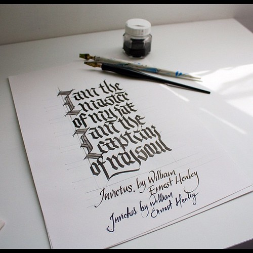 Invictus Poster Sketch Dailycalligraphy Typography Ca